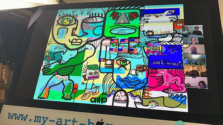 ana artiste idée animation fresque originale design-thinking