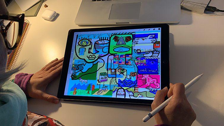 ana artiste tableau design thinking digital
