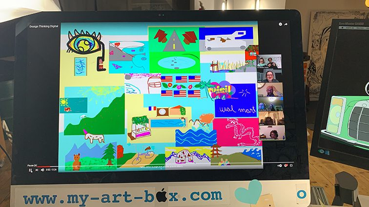 Fresque design thinking tableau digital ana artiste