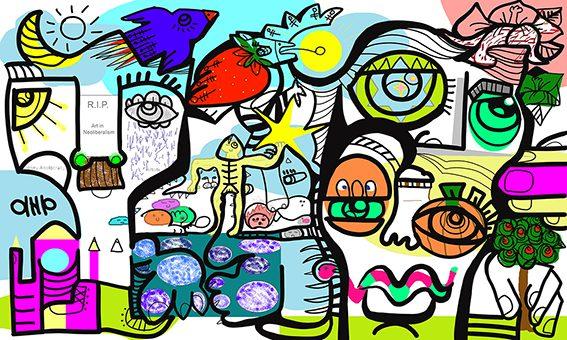 Fresque Digitale Berlin par aNa artiste