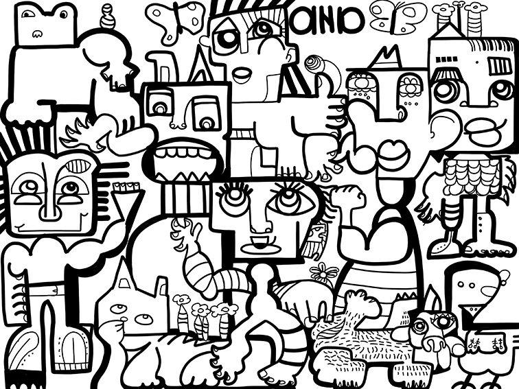 Tableau Digital Lille par aNa artiste art social à distance