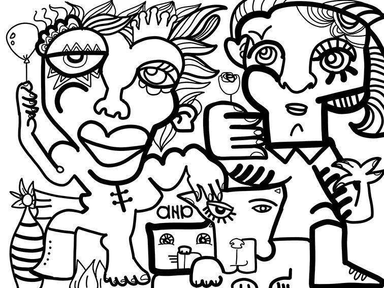 Tableau Digital Porto Rico par aNa artiste